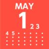 月カレンダーアプリ