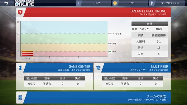 Dream League Soccer 2016マルチプレイ5