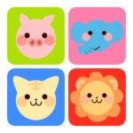 動物パズルゲームアプリ